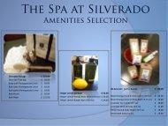 Spa Amenities - Silverado Resort & Spa