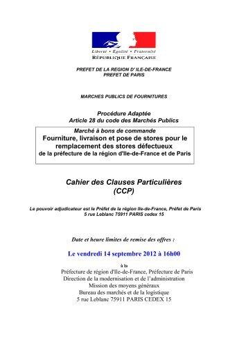 marches publics de fournitures courantes et services - Préfecture de ...