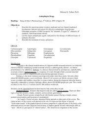 Melanie K. Tallent, Ph.D. Antiepileptic Drugs Reading: Rang ...