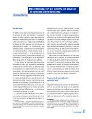 Descentralización del sistema de salud en el contexto ... - Funsalud