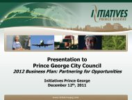 Presentation to Prince George City Council - City of Prince George