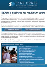 Download: FREE GUIDE - Hyde House Business Brokers