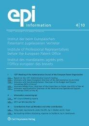 4 10 Information - European Patent Institute
