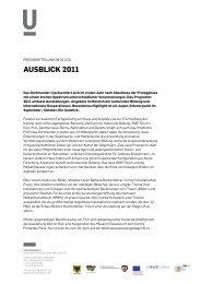 Pressemitteilung 08.02.2011 - Dortmunder U