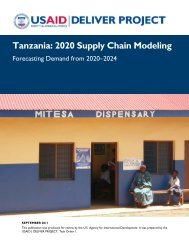 Tanzania: 2020 Supply Chain Modeling. Forecasting Demand from ...