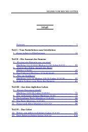 Bilder vom Reiche Gottes - Startseite - Maranathamedia.de