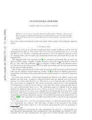 On polynomial digraphs - Departament de Matemàtica Aplicada II