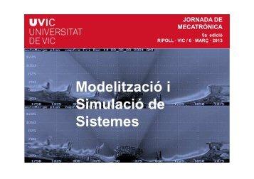Modelització i Modelització i Simulació de Sistemes