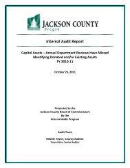 Internal Audit Report Capital Assets - Jackson County Oregon