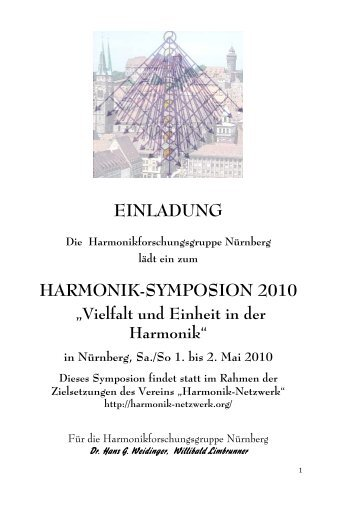 EINLADUNG HARMONIK-SYMPOSION 2010