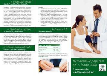 Nemocenské pojištění od 1. ledna 2008