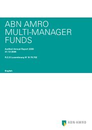 ABN AMRO MULTI-MANAGER FUNDS