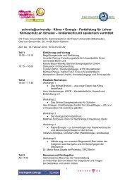 Tischvorlage und Protokoll-Notizen zum Meeting 18 - Schools at ...