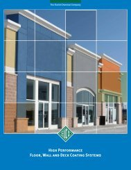High Performance Floor, Wall and Deck Coating Systems - Euclid ...