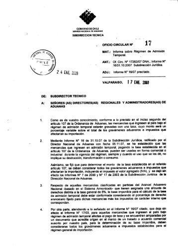 . OFICIO CIRCULAR N° 1 7 A - Pollmann