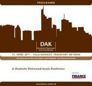 6. Deutsche Distressed-Assets-Konferenz