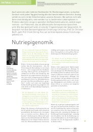 Im Fokus - Abteilung Molekulare Prävention - Christian-Albrechts ...