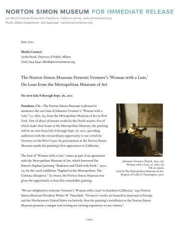 The norton simon museum essay