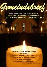 September, Oktober, November - Friedersdorf - Oberlausitz