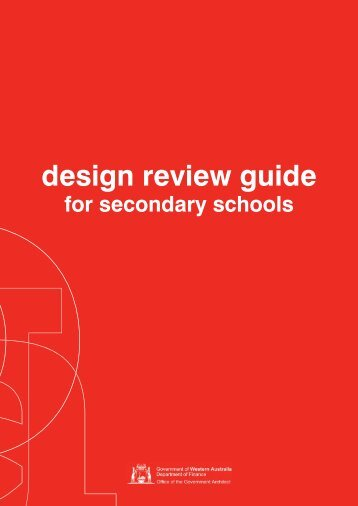 Design Review Guide for Secondary Schools - Department of Finance