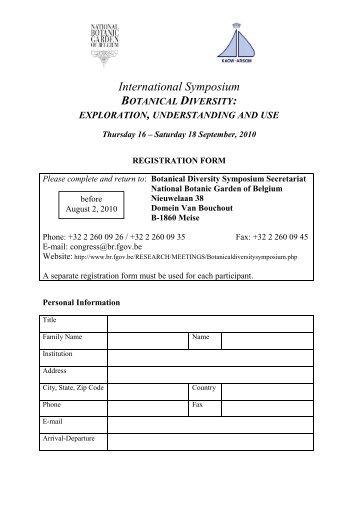 International Symposium BOTANICAL DIVERSITY