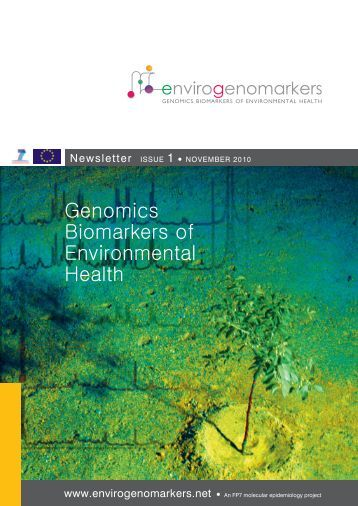 Newsletter: Issue 1 (pdf) - Envirogenomarkers