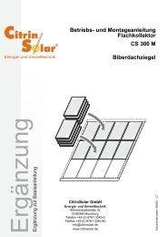 CS 300 M Ergaenzung zur Basisanleitung Biber DE V ... - Citrin Solar