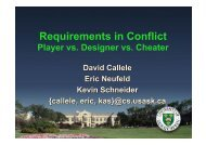 Requirements in Conflict