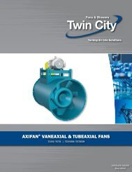 Tubeaxial Fans with Steel Wheels - Catalog AX250 - Twin City Fan ...