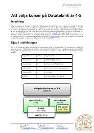 Att välja kurser på Datateknik år 4-5 - Student LTH - Lunds Tekniska ...