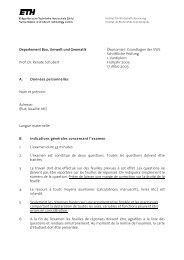 Departement Bau, Umwelt und Geomatik Ökonomie I: Grundlagen ...
