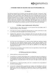 Vorlage für leeres Dokument / Verträge - Epigenomics AG