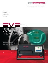 EVE Brochure - MTI Instruments Inc.