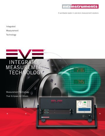 EVE Brochure - MTI Instruments Inc.