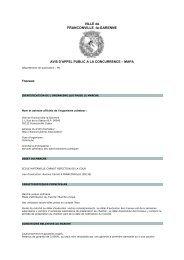 Consulter l'avis pour le marché 13VO057 - Franconville