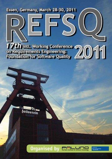 REFSQ'11 Program Guide