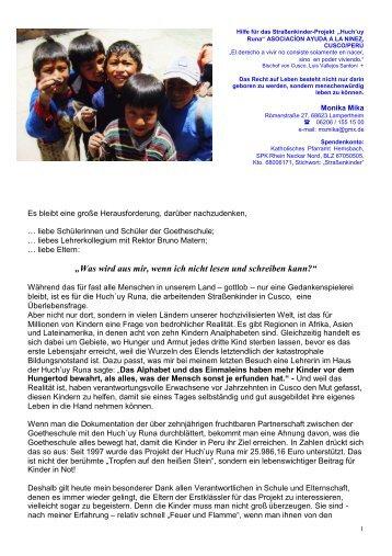 Zum Dankesbrief - Goetheschule Hemsbach Homepage