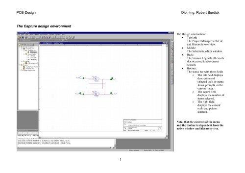 PCB-Design Dipl.-Ing. Robert Burdick The Capture design ...