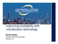 Improving availability with virtualization technology - OpenMPE