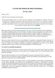 La crisis del sistema de salud colombiano Â¡No hay ... - Cedetrabajo