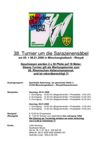 Seite 1 Ausschreibung Sarazenen-Turnier - beim Rheydter TV