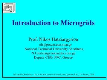 N. Hatziargyriou Introduction to Microgrids