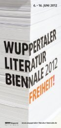 Das Programmheft der Wuppertaler Literatur ... - Stadt Wuppertal
