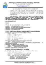 Lei Complementar n°100/07 - Plano Diretor - Prefeitura de Peruíbe