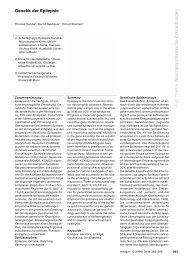 Zum Thema Neuropsychiatrische Erkrankungen Genetik der Epilepsie