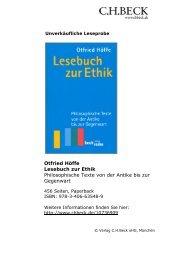 Lesebuch zur Ethik - C.H. Beck