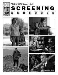 Winter 2012 - Ojai Film Society