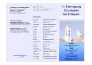 11. Fachtagung Sozialarbeit bei Epilepsie - ZfP Südwürttemberg