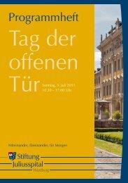 Programmheft - Stiftung Juliusspital Würzburg