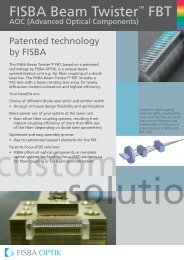 Patented technology by FISBA